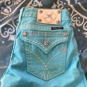 Baby blue skinny miss me jeans
